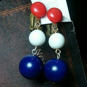 Jewelry - 🗽Patriotic Earrings (Vintage)